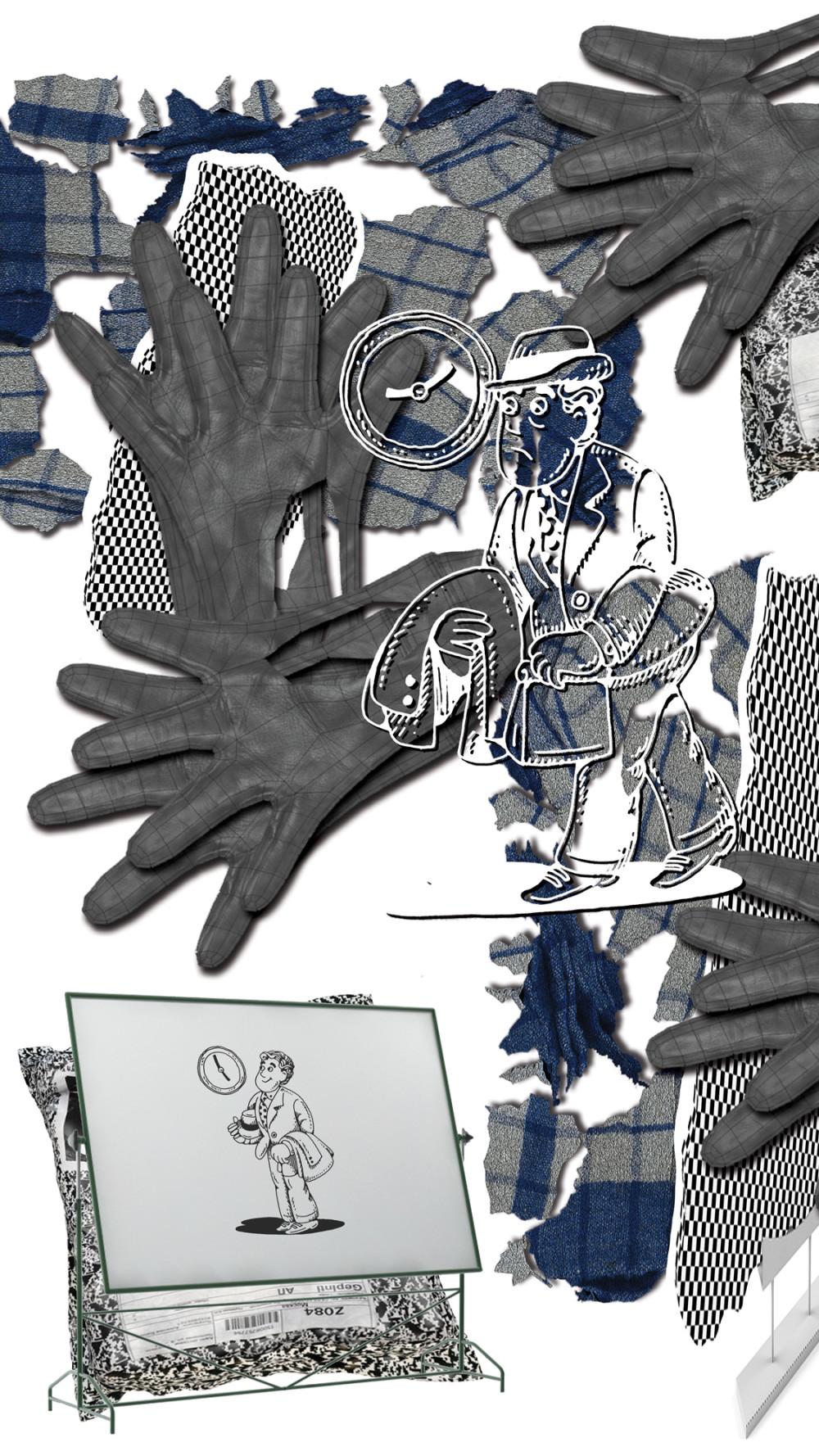 Worker's Daydream (2018), digital collage